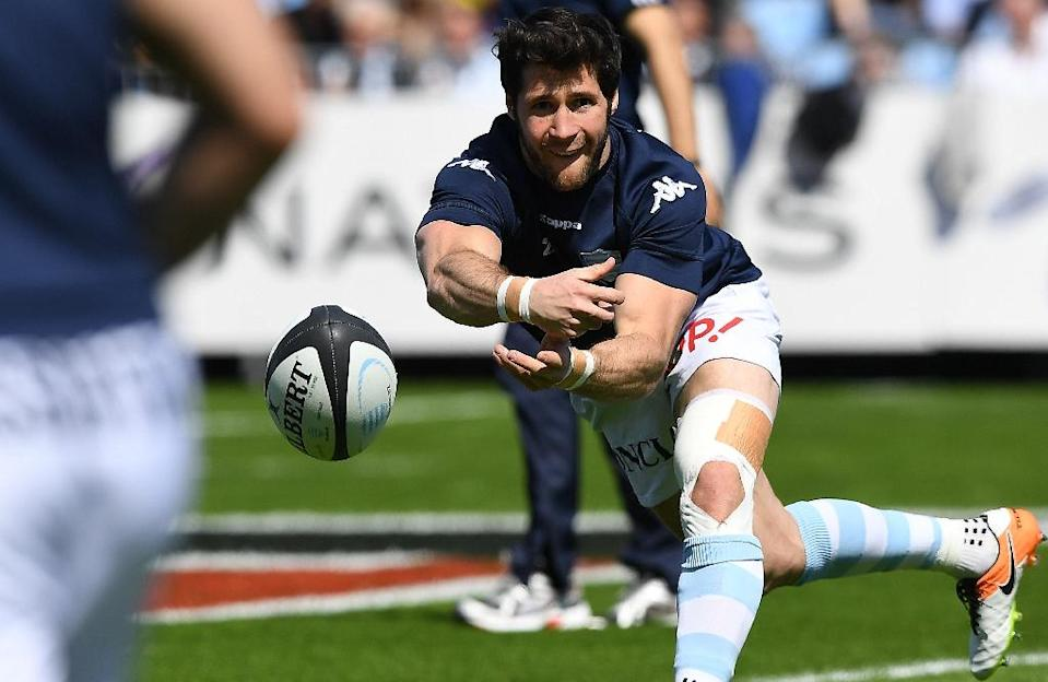 Racing 92 will be without France scrum-half Maxime Machenaud for the trip to La Rochelle (AFP Photo/Franck Fife)