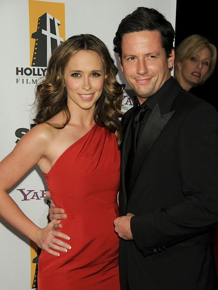 """<a href=""""http://movies.yahoo.com/movie/contributor/1800018784"""">Jennifer Love Hewitt</a> and <a href=""""http://movies.yahoo.com/movie/contributor/1808468698"""">Ross McCall</a> at the 12th Annual Hollywood Film Festival Awards Gala in Beverly Hills - 10/27/2008"""