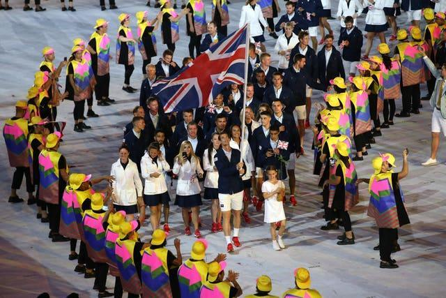 Andy Murray lead Team GB at the 2016 opening ceremony in Tokyo