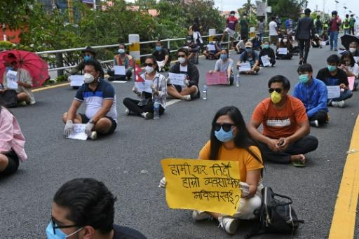 Demonstrators in Nepal have defied a nationwide lockdown for several days