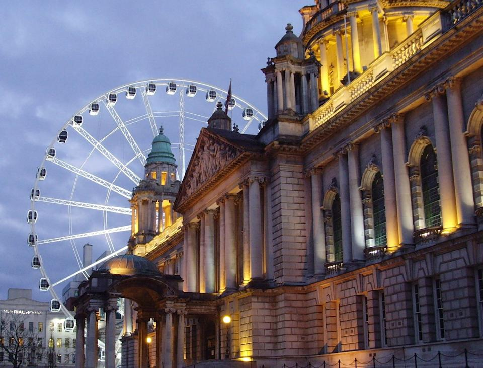 """<p>Head up to Northern Ireland for a stop in beautiful Belfast, which, like Dublin, you can spend about a day in. While here, check out <a href=""""https://titanicbelfast.com/"""" class=""""link rapid-noclick-resp"""" rel=""""nofollow noopener"""" target=""""_blank"""" data-ylk=""""slk:Titanic Belfast"""">Titanic Belfast</a>, a visitor's center where the RMS Titanic was built. Also head over to Belfast City Hall, <a href=""""https://www.nmni.com/our-museums/ulster-museum/Home.aspx"""" class=""""link rapid-noclick-resp"""" rel=""""nofollow noopener"""" target=""""_blank"""" data-ylk=""""slk:Ulster Museum"""">Ulster Museum</a>, or take <a href=""""http://www.belfastblackcabtours.co.uk/belfasttours.php"""" class=""""link rapid-noclick-resp"""" rel=""""nofollow noopener"""" target=""""_blank"""" data-ylk=""""slk:a black cab tour"""">a black cab tour</a> to see the city's political murals and learn about <a href=""""https://www.britannica.com/event/The-Troubles-Northern-Ireland-history"""" class=""""link rapid-noclick-resp"""" rel=""""nofollow noopener"""" target=""""_blank"""" data-ylk=""""slk:the Troubles"""">the Troubles</a>, a period of conflict between the city's Protestants and Catholics that lasted from 1968 to 1998.</p>"""