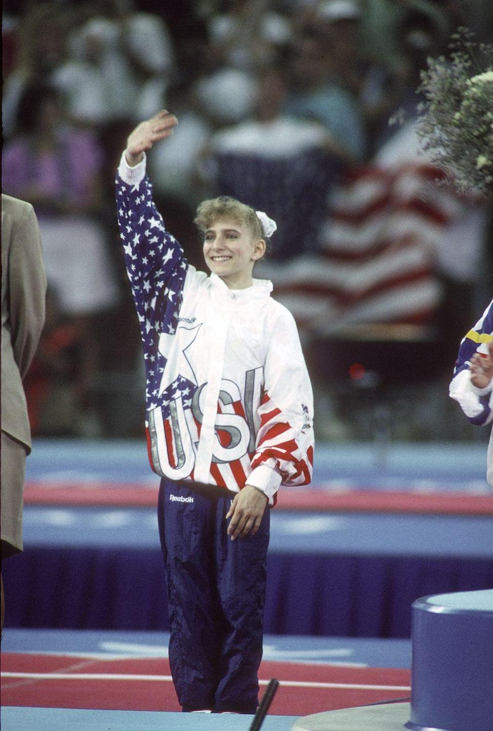 <p>Shannon Miller was an accomplished gymnast before her time on the 1996 Olympic team, known as the Magnificent Seven. Miller made her mark at the 1992 Olympic Games, taking home five medals total, which at the time was the most medals earned by any Olympic athlete in any sport. </p>