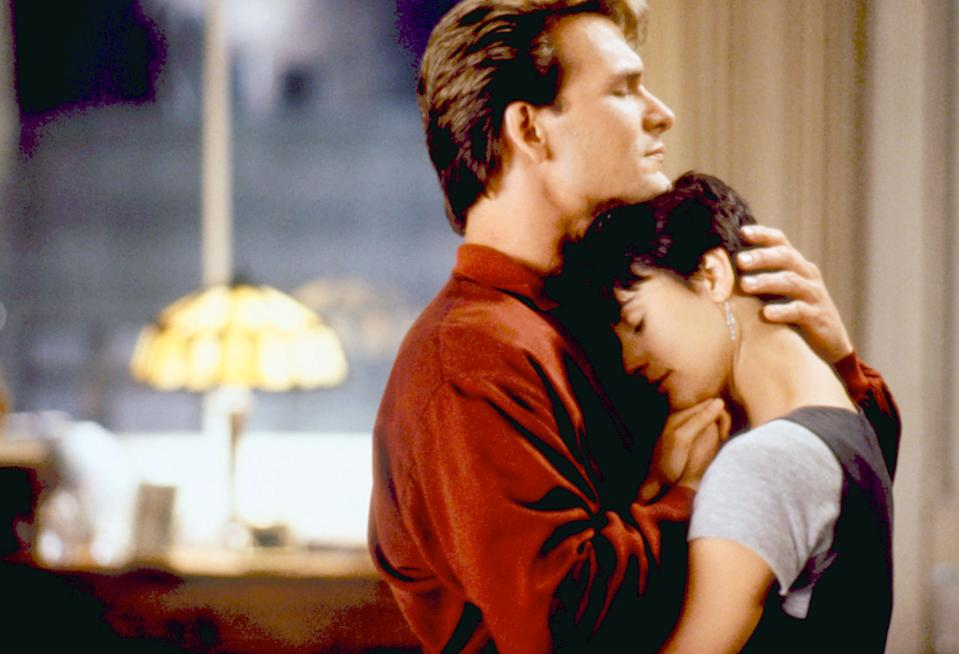 Swayze and Demi Moore in 'Ghost' in roles that were almost played by Harrison Ford and Michelle Pfeiffer (Photo: ©Paramount/Courtesy Everett Collection)