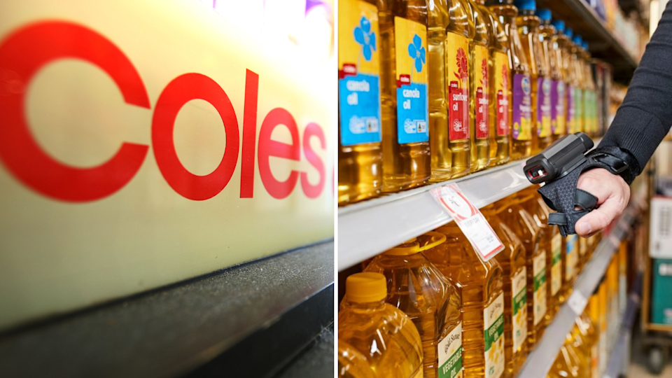 Coles is trialling artificial intelligence. Images: Getty, Coles