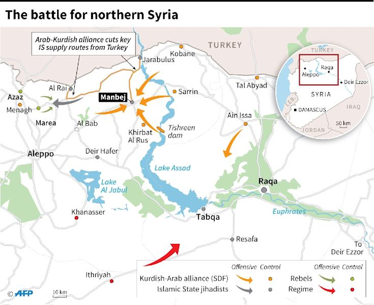 The battle for northern Syria (AFP Photo/)
