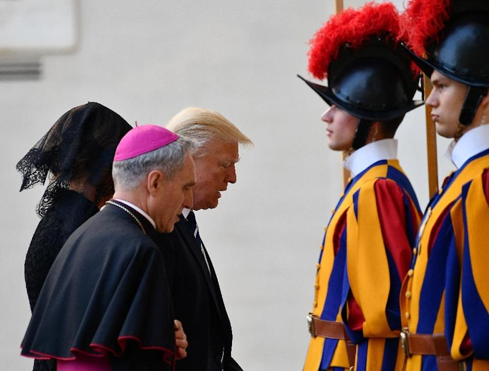 Trump and the pope have clashed over many issues (AFP Photo/Vincenzo PINTO)