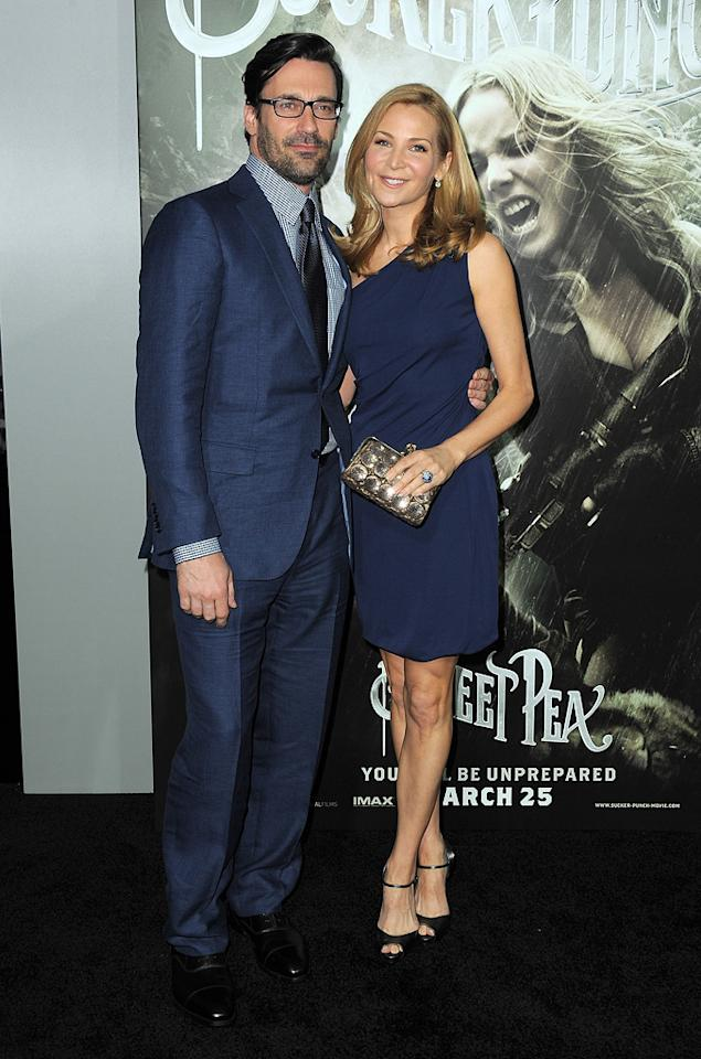 """<a href=""""http://movies.yahoo.com/movie/contributor/1808974842"""">Jon Hamm</a> and <a href=""""http://movies.yahoo.com/movie/contributor/1804495501"""">Jennifer Westfeldt</a> at the Los Angeles premiere of <a href=""""http://movies.yahoo.com/movie/1810133258/info"""">Sucker Punch</a> on March 23, 2011."""