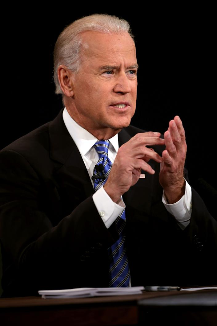 DANVILLE, KY - OCTOBER 11: U.S. Vice President Joe Biden speaks during the vice presidential debate at Centre College October 11, 2012 in Danville, Kentucky. This is the second of four debates during the presidential election season and the only debate between the vice presidential candidates before the closely-contested election November 6. (Photo by Chip Somodevilla/Getty Images)
