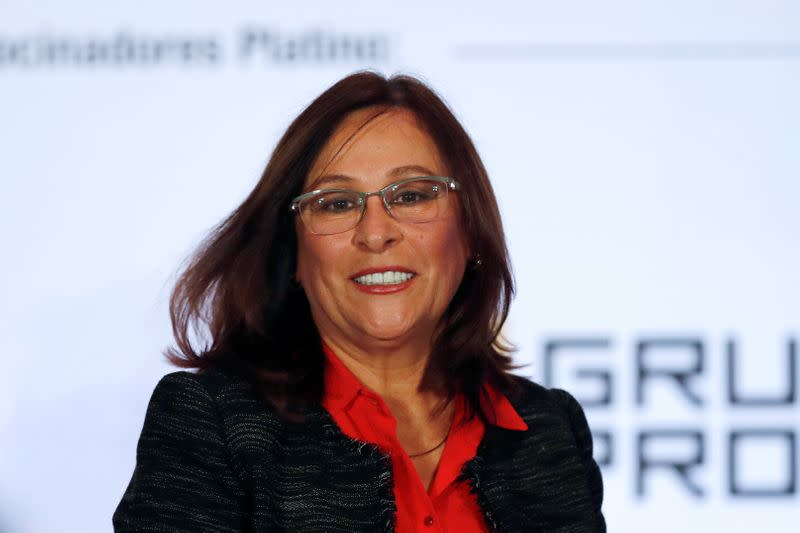 Mexico's Energy Minister Nahle is seen after a speech at the Energy Mexico 2019 exposition and congress in Mexico City