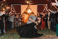 <p>Adding twinkly lights to any space will instantly make it more charming. If you have curtains hung up around your venue, we suggest adding firefly or Christmas lights along the rod to light up the area.</p>