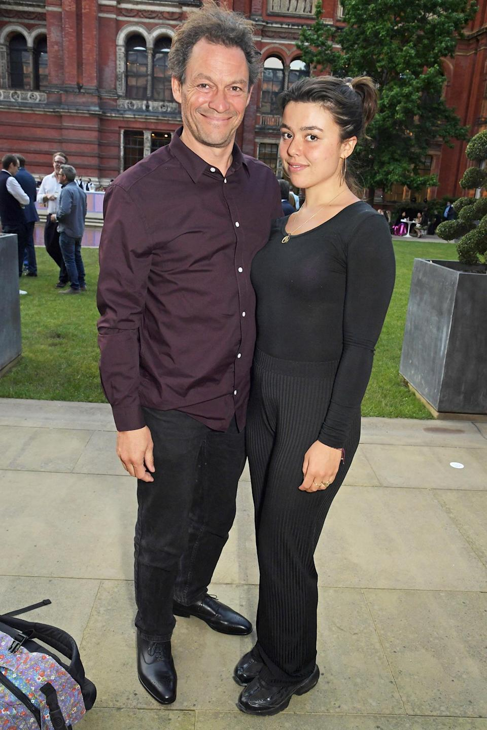 <p>Dominic West and his daughter Martha attend a private screening of <i>Alice: Curiouser and Curiouser </i>on June 23 in London.</p>