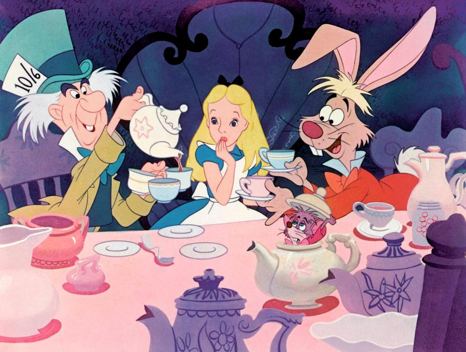 """<p>Everything about the original <em>Alice in Wonderland</em> is pure fantasy. That's why it's so fun to watch. The pastel colors and wacky characters make for one of the most vivid Disney movies of all time. My only suggestion? Watch it stone-cold sober and stone-cold sober only. It's weird enough. </p> <p><a href=""""https://cna.st/affiliate-link/NdFgiDhcJZd5E48XzkMwttEiGfJpyyKT2brfNX2kL3QLfqbVQA6s5ZibcrNGAxUX8Dy1CkoFZ8EJyViZ4SgxhF5C52444giJYe8tw4NhmKb3LqgxQWMWRDAfkVWVQJVayQtjeBxS4LXuV6yp4AxNjHQFhemeCqgK9?cid=5e864a3cec73130008e363b2"""" rel=""""nofollow noopener"""" target=""""_blank"""" data-ylk=""""slk:Available on Disney+"""" class=""""link rapid-noclick-resp""""><em>Available on Disney+</em></a></p>"""