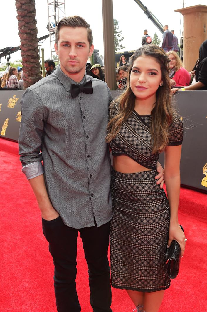 Actors Cody Johns (L) and Alexys Gabrielle Johns attend the 2017 MTV Movie And TV Awards at The Shrine Auditorium on May 7, 2017 in Los Angeles, California.