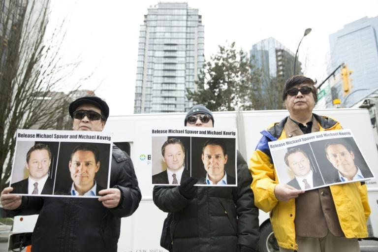 Beijing's charges against Michael Kovrig and Michael Spavor are widely seen as retaliation against the detention of Huawei executive Meng Wanzhou in Canada (AFP Photo/Jason Redmond)