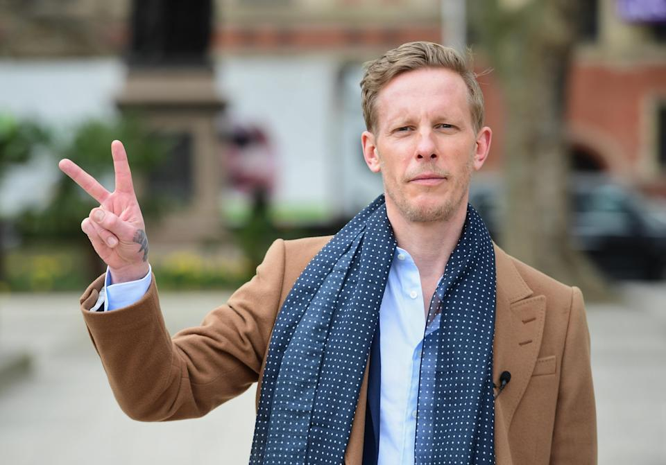 Leader of the Reclaim Party, Laurence Fox, at the launch of their party manifesto for the London Mayoral election, in Parliament Square, Westminster, central London. Picture date: Wednesday April 7, 2021.