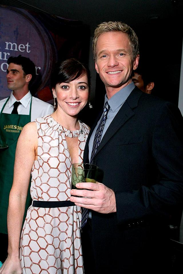 "Both Alyson Hannigan and Neil Patrick Harris' real-life partners have appeared on the CBS comedy. Alyson's husband Alexis Denisof plays news anchor Sandy Rivers, while Neil's boyfriend David Burtka plays Scooter, Lily's (Hannigan's) ex. Alexandra Wyman/<a href=""http://www.wireimage.com"" target=""new"">WireImage.com</a> - March 13, 2008"