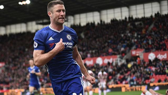 <p>City's shambolic back line this season means Gary Cahill completes an all-Chelsea defence. </p> <br><p>Chelsea's captain has begun to fill the enormous boots of John Terry. Cahill has not only been commanding at the back but also found the the net six times this season, often scoring crucial goals, such as the winner at Stoke. </p> <br>
