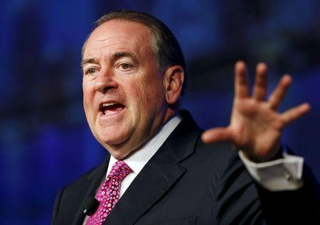 U.S. Republican presidential candidate Huckabee speaks to 42nd annual meeting of American Legislative Exchange Council in San Diego