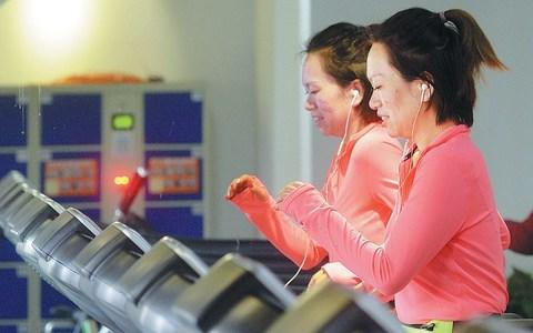 Hitting the gym once dementia has begun may not help the condition, scientists suspect  - Credit: Tao Ke for China Daily