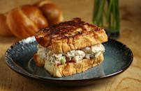 """<p>Seafood rolls are ideal for summer dinner parties when guests are craving something light but delicious. Use sweet langoustine tails and canned lump crab in place of lobster to save on money and time.</p> <p><a href=""""https://www.thedailymeal.com/recipes/langoustine-shrimp-seafood-roll?referrer=yahoo&category=beauty_food&include_utm=1&utm_medium=referral&utm_source=yahoo&utm_campaign=feed"""" rel=""""nofollow noopener"""" target=""""_blank"""" data-ylk=""""slk:For the Creamy Seafood Rolls on Buttered Brioche recipe, click here."""" class=""""link rapid-noclick-resp"""">For the Creamy Seafood Rolls on Buttered Brioche recipe, click here.</a></p>"""