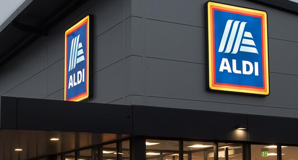 Outside of an Aldi store pictured.