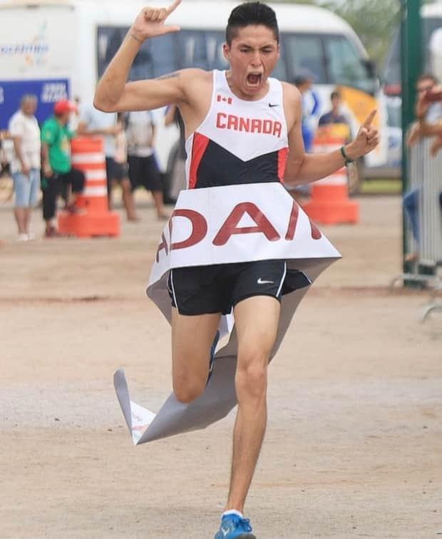 Distance runner Rilee ManyBears from the Siksika Nation is among numerous Indigenous athletes who have encountered barriers on the road to qualifying for the Olympics. (Submitted by Rilee ManyBears - image credit)