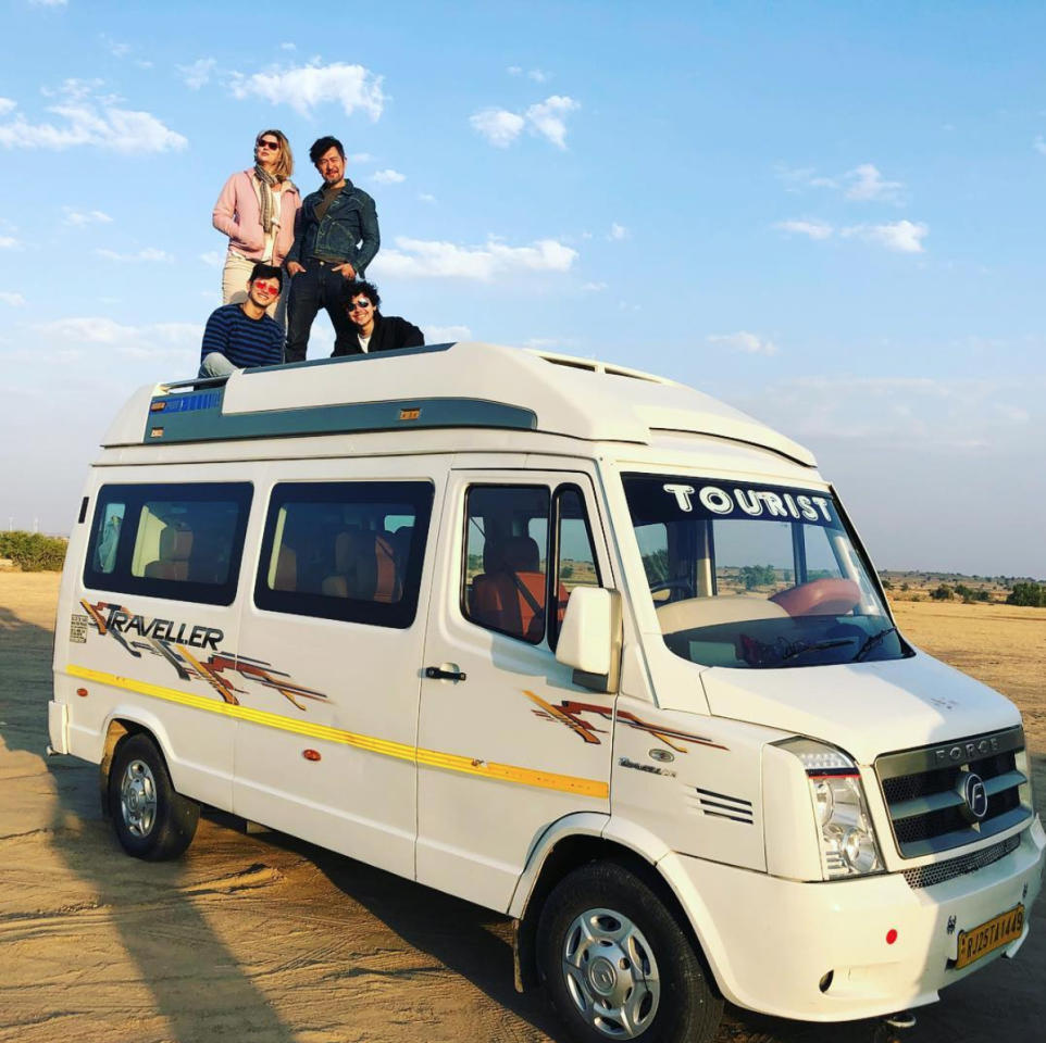 <p>Local actor Adrian Pang and family are spending quality time together in India. From the Taj Mahal to the desert in Jaisalmer, the family have been posing for photos worthy of an album cover. (Photo: Tracie Pang/ Instagram) </p>