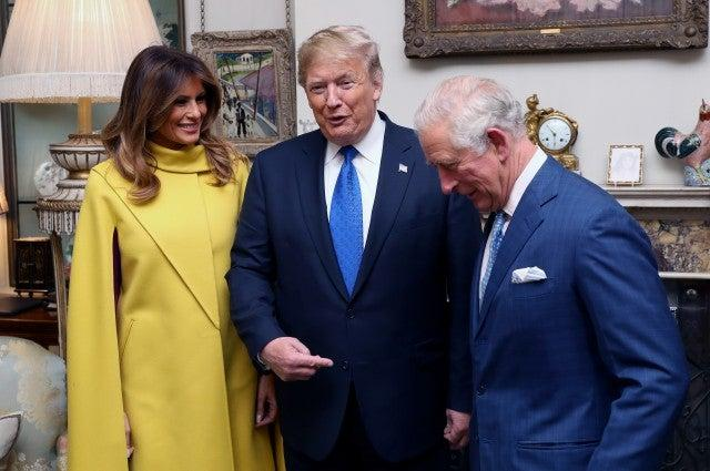 Prince Charles with Donald Trump and Melania