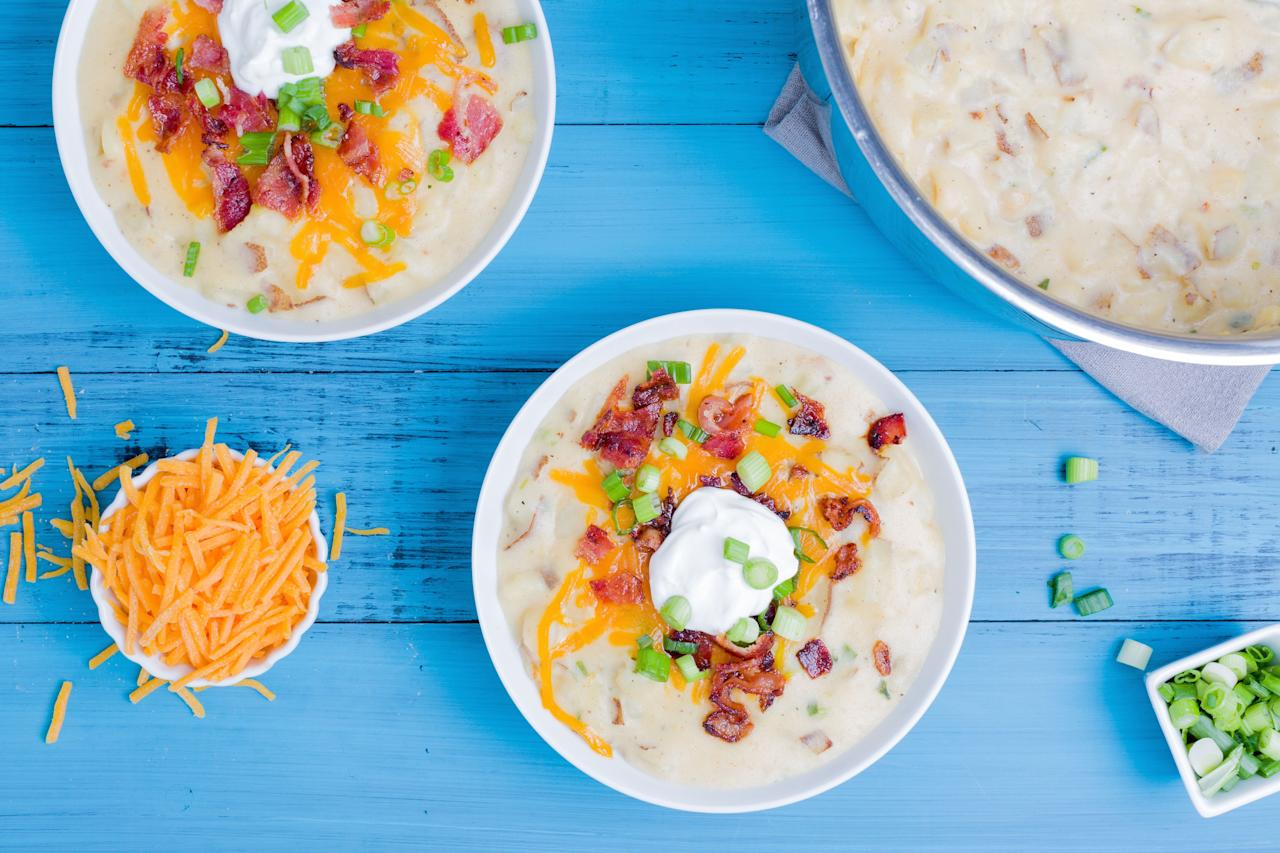 "<p>From spicy to creamy, each of these soups feels like comfort in a bowl. And unlike some starter soups, they've got enough protein, veggies, and carbs to actually fill you up. Slurping for more? Check out our <a rel=""nofollow"" href=""https://www.delish.com/cooking/recipe-ideas/g3079/potato-soup/"">potato soups</a> and <a rel=""nofollow"" href=""https://www.delish.com/holiday-recipes/g2987/pumpkin-soup/"">pumpkin soups</a> too.</p>"