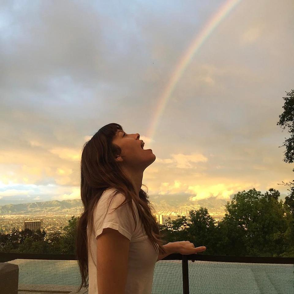 """<p>Who need Skittles? """"Taste the rainbow,"""" Justin Timberlake's better halfwittily captioned this cutesnap. (Photo: <a rel=""""nofollow"""" href=""""https://www.instagram.com/p/BQrMBhMFa5G/?taken-by=jessicabiel"""">Instagram</a>) </p>"""