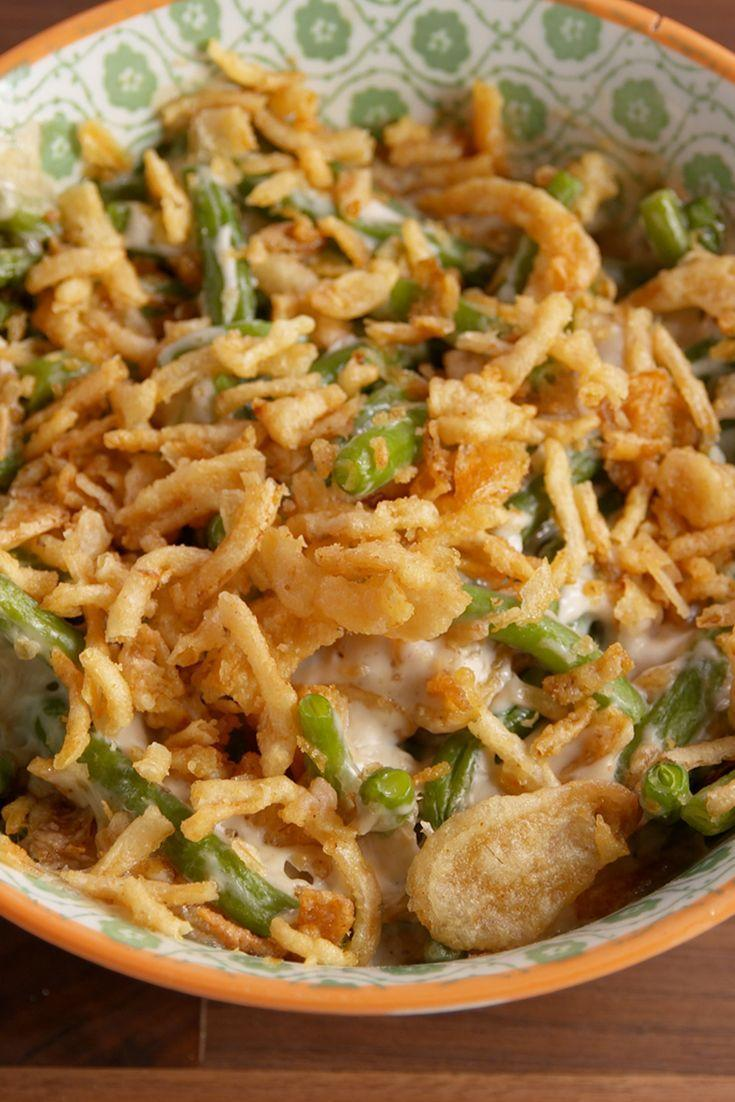 """<p>Save space in your oven by making this Thanksgiving staple in the microwave.</p><p>Get the recipe from <a href=""""https://www.delish.com/cooking/recipe-ideas/recipes/a50297/microwave-green-bean-casserole-recipe/"""" rel=""""nofollow noopener"""" target=""""_blank"""" data-ylk=""""slk:Delish"""" class=""""link rapid-noclick-resp"""">Delish</a>.</p>"""