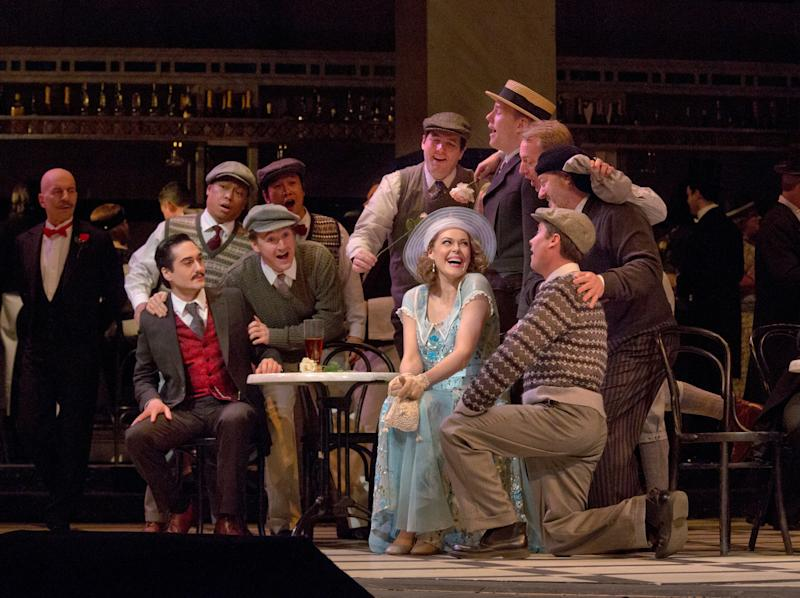 """This January 8, 2013 photo provided by the Metropolitan Opera shows a scene from a dress rehearsal of Puccini's """"La Rondine"""" at he Metropolitan Opera in New York. (AP Photo/Metropolitan Opera, Ken Howard)"""