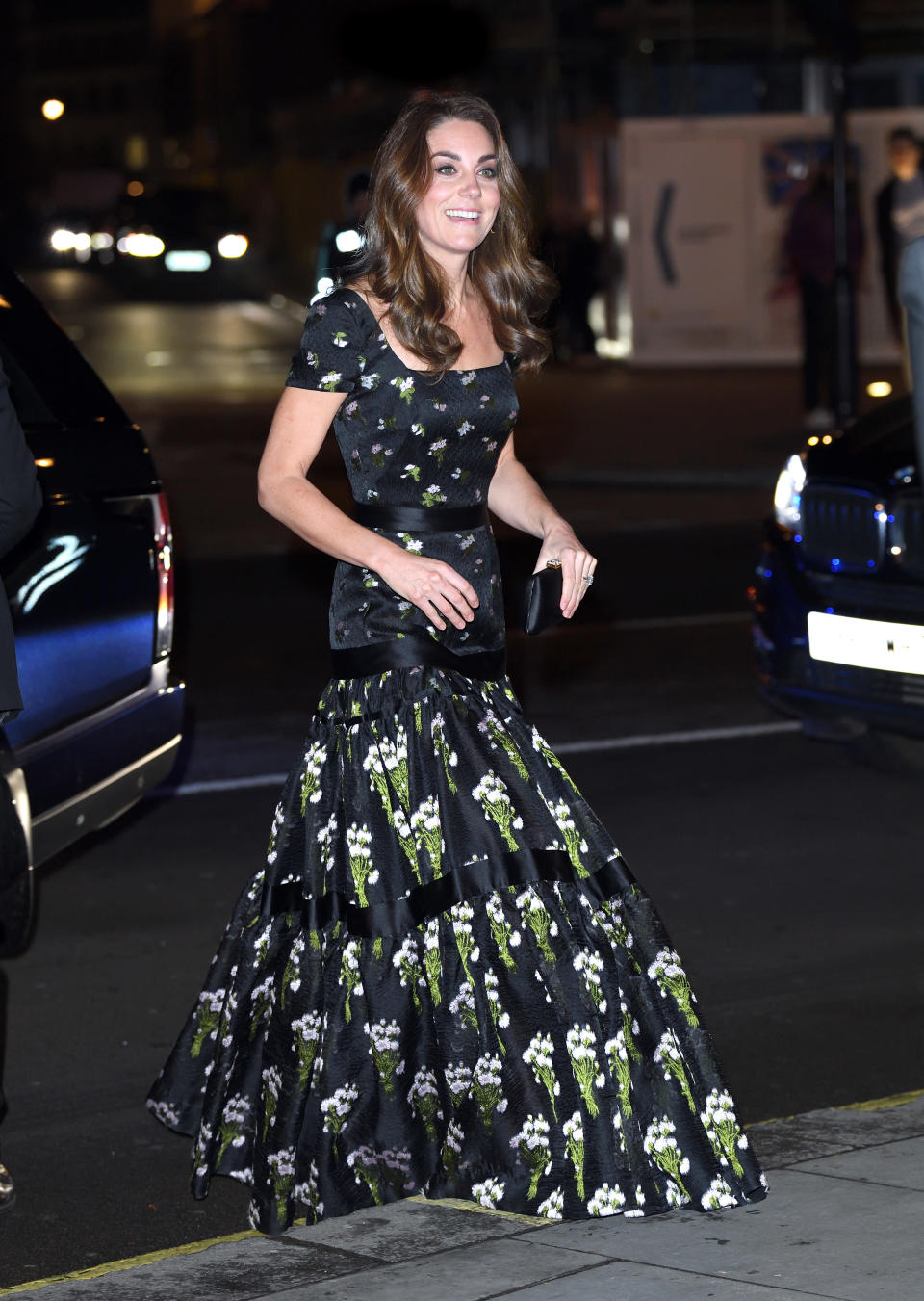 The Duchess of Cambridge rewore an Alexander McQueen gown at last night's gala. [Photo: Getty]