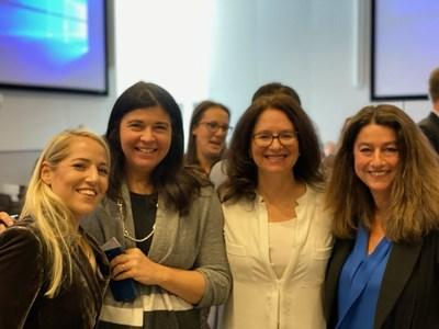 Doctors from all over the country unite at the FDA hearing on the Use of Fecal Microbiota for Transplantation (FMT) to Treat Clostridium difficile Infection Not Responsive to Standard Therapies. Left to Right: Jessica Allegretti, MD (Boston, MA), Colleen Kelly, MD (Providence, RI), Stacy Kahn, MD (Boston, MA), and Sabine Hazan-Steinberg, MD (Malibu, CA) -- Nov 4, 2019, Washington D.C.