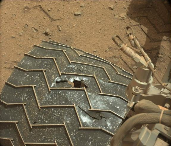 How Wheel Damage Affects Mars Rover Curiosity's Mission