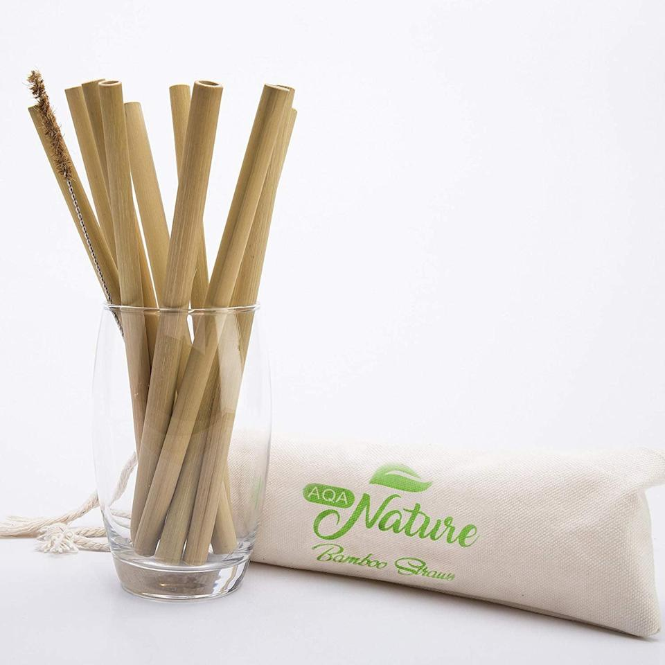 <p>Say goodbye to plastic straws and hello to these useful, environmentally-friendly <span>Organic Bamboo Straws</span> ($7 for 10).</p>