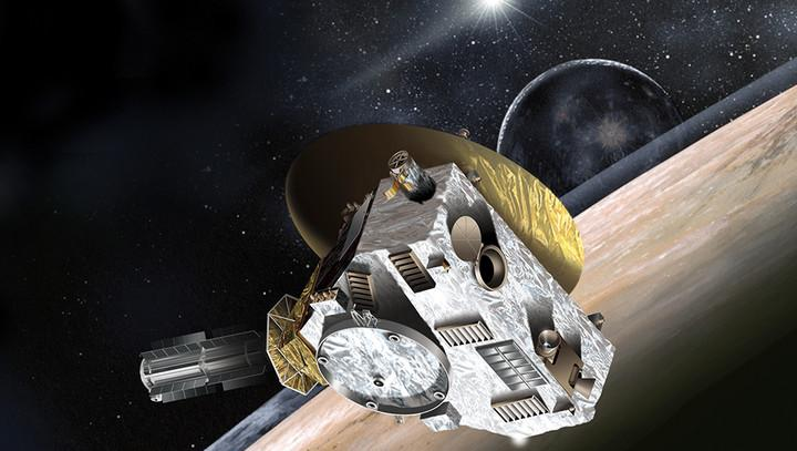 Artist's rendition of New Horizons as it passed Pluto.