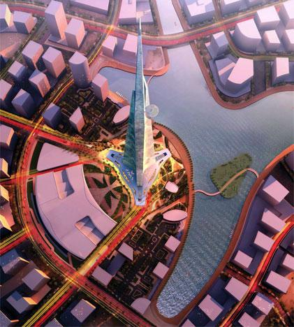 Expected to cost $1.2 billion to construct, Kingdom Tower will be a mixed-use building featuring a luxury hotel, office space, serviced apartments, luxury condominiums and the world's highest observatory. Kingdom Tower's height will be at least 173 meters (568 feet) taller than Burj Khalifa, which was designed by Adrian Smith while at Skidmore, Owings & Merrill.