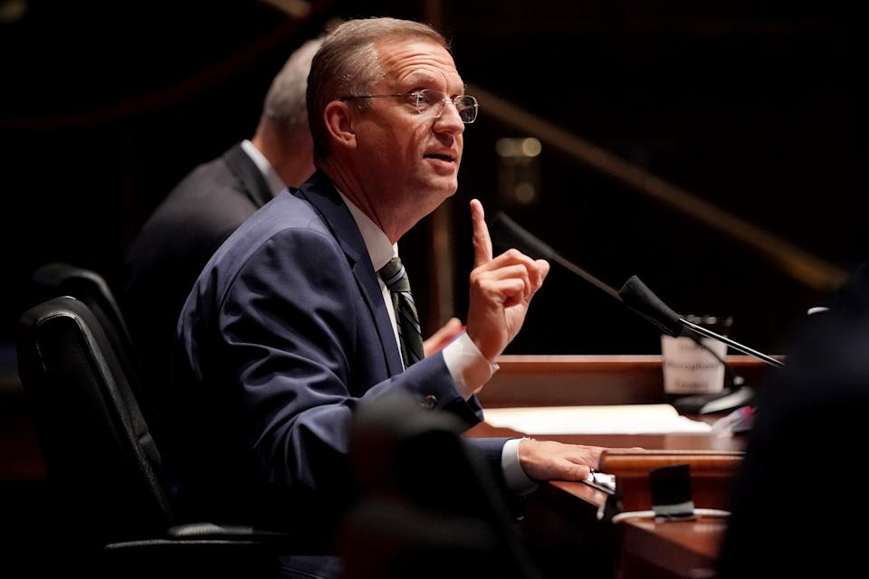 U.S. Rep. Doug Collins (R-GA) questions witnesses at a House Judiciary Committee hearing.  (Photo by Greg Nash-Pool/Getty Images)