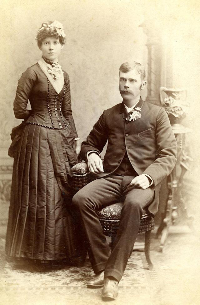 "<p>Frank said: ""I would say that while some individual cabinet cards are fascinating in and of themselves, the thing that really interested me was the collection of 100 works and finding the subtle differences between images.""(Pictured: Vintage wedding portraits from ""I Do, I Do"" exhibit) </p>"