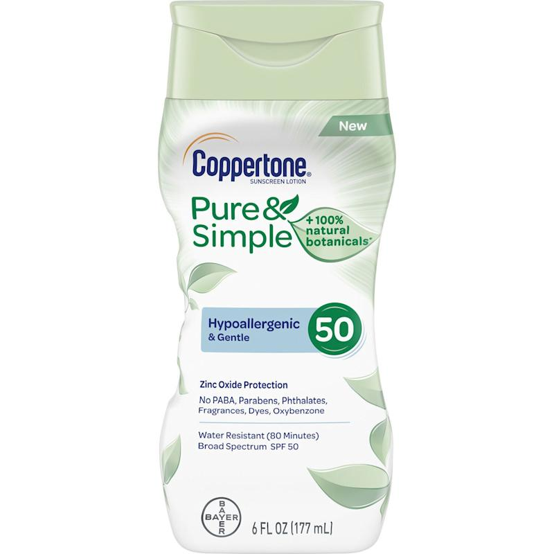 Coppertone Pure & Simple Adult SPF 50 Lotion (Photo: Coppertone)
