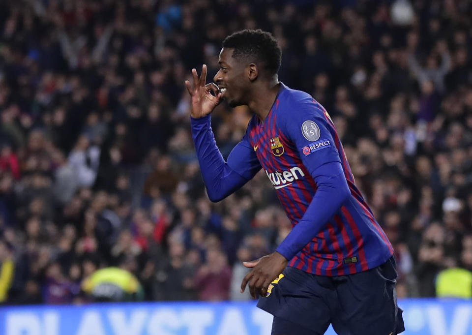 Ousmane Dembele has three goals in his last five games, including a beautiful one in the team's 1-1 draw against Tottenham.