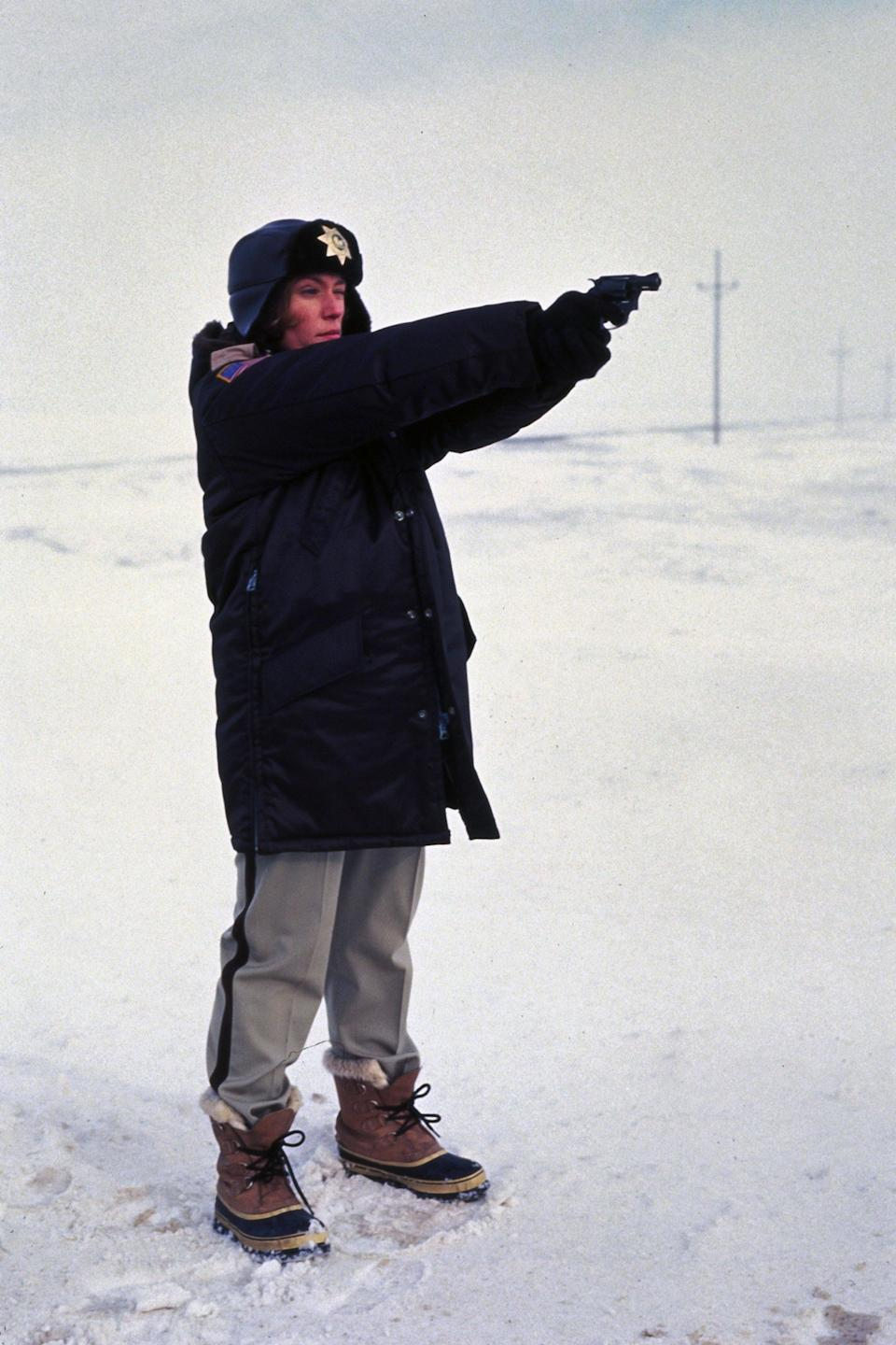 The hero in 'Fargo' is policewoman Marge Gunderson (Frances McDormand)Rex