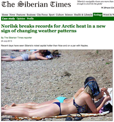 It's 90 Degrees in Siberia and People Are Sunbathing