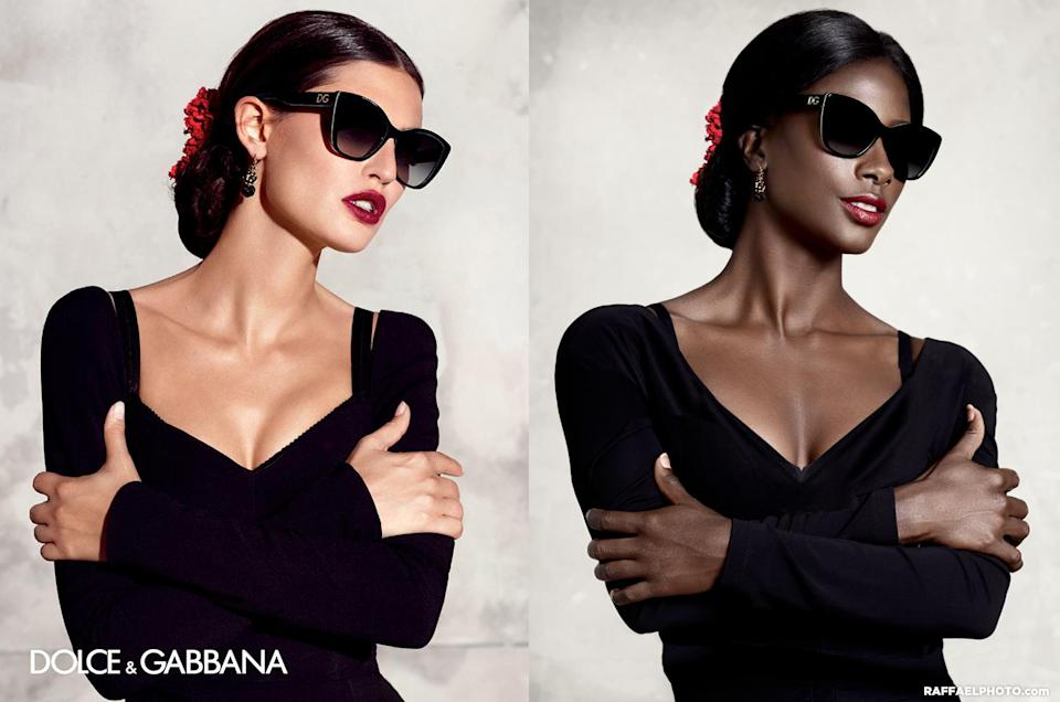 <p>Black girls wear sunglassess too, Dolce and Gabanna. Here's Howard replacing Bianca Balti in an eyewear campaign. </p>