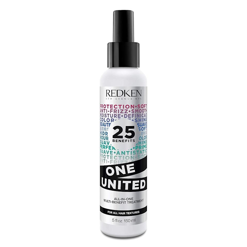 "<h2>Up To 40% Off Premium Beauty Haircare Brands </h2><br>Discount is applicable to top haircare brands like Redken, <a href=""https://amzn.to/3jQ0eaG"" rel=""nofollow noopener"" target=""_blank"" data-ylk=""slk:Mustela"" class=""link rapid-noclick-resp"">Mustela</a>, and <a href=""https://www.refinery29.com/en-us/2020/10/10081128/oribe-hair-products-amazon-prime-day-deals-2020"" rel=""nofollow noopener"" target=""_blank"" data-ylk=""slk:Oribe"" class=""link rapid-noclick-resp"">Oribe</a>. <br><br><strong>Redken</strong> United All-In-One Leave In Conditioner, $, available at <a href=""https://amzn.to/2Fptrdz"" rel=""nofollow noopener"" target=""_blank"" data-ylk=""slk:Amazon"" class=""link rapid-noclick-resp"">Amazon</a>"
