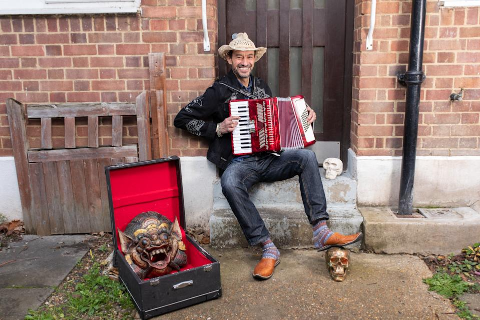 Jethro Clunies-Ross West London bought a gold skull and an accordion. Photo: Gerrard Gethings/Barclays