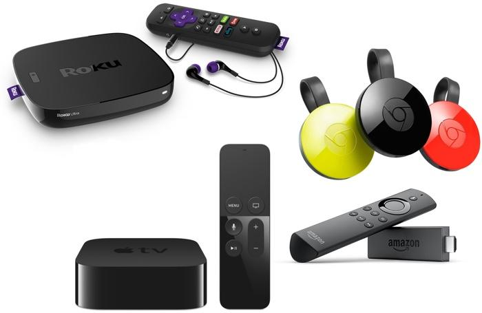 Streaming devices compared.