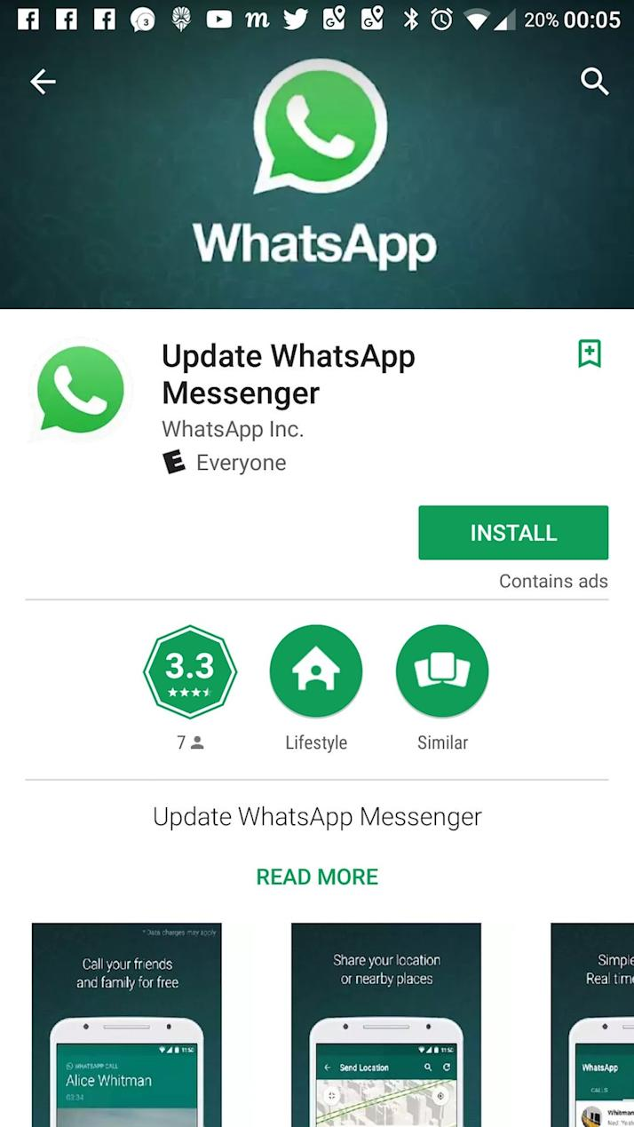 Fake WhatsApp app on the Google Play Store was downloaded more than