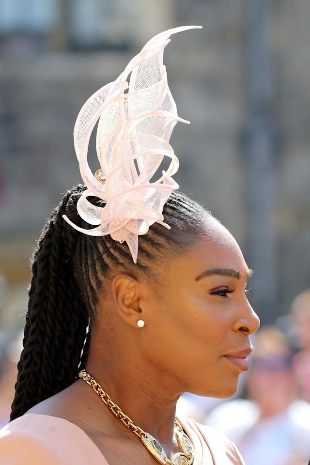 Serena Williams arrives at St George's Chapel at Windsor Castle for the wedding of Meghan Markle and Prince Harry in Windsor, Britain, May 19, 2018. Gareth Fuller/Pool via REUTERS